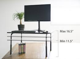 Adjustable Height Computer Desks by Desk T V032 Vivo Standing Height Adjustable Desktop Stand Stand