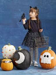 Decorate for Halloween with No Carve Pumpkins