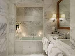 bathroom tranquil marble bathroom features alcove bathtub with