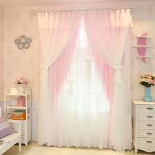 curtains for girls bedroom aliexpress com buy senisaihon christmas princess lace pink