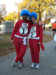 thing 1 u0026 thing 2 halloween costumes the stone rabbit nothing says fun like a halloween 5k run