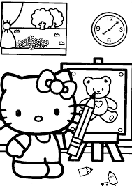 coloring kitty coloring