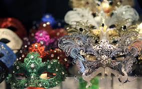 carnival masks for sale venetian masks for sale in a shop of venice stock photo image of