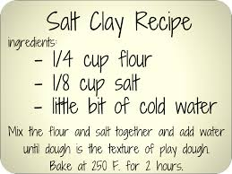 diy salt clay recipe great for jewelry and or ornaments or salt