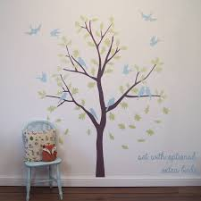 bird tree wall stickers by parkins interiors notonthehighstreet com bird tree wall stickers