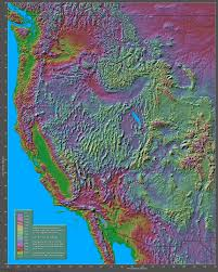 Map Of North West Usa by Shaded Relief Maps Of The United States