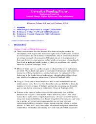 sample of synthesis essay issuelab children and youth prevention funding project synthesis of research on economic change welfare reform and child maltreatment