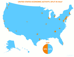 United States Map By Region by Map Us Gdp Concentration Business Insider