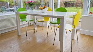 White Dining Table And Coloured Chairs Trendy 6 Seater Dining Set White Gloss Table Funky Coloured Chairs