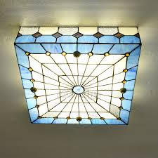 Flush Mounted Ceiling Lights by Affordable Stained Glass Shade Tiffany Style Flush Mount Ceiling Light