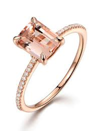 gold and morganite ring 2 carat morganite and diamond classic multistone engagement ring