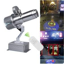 led lights for body shop gobo projector remote control logo advertising commercial shop mall