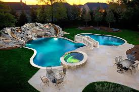 Backyard Pool With Slide New 60 Pools With Slides And Waterfalls Backyard Decorating