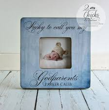 godparent gift personalized christening picture frame godparent