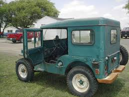 jeep arctic blue m38 willys jeep artic top