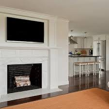 television over fireplace fireplace design ideas