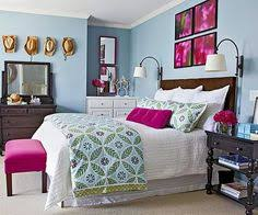 Ideas For Decorating Over The Bed Bedrooms Bright Paintings And - Color theme for bedroom