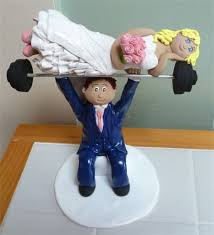 weight lifting cake topper welcome to emlems bakery wedding cake toppers