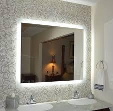 majestic design lighted vanity mirrors for bathroom backlit mirror