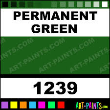 permanent green artist acrylic paints 1239 permanent green