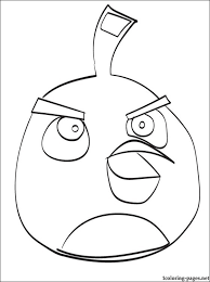 angry birds black bird coloring pages