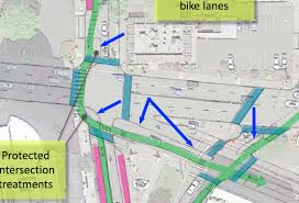 Bike Map Portland by City Of Portland Considering Protected Intersections Bike Only