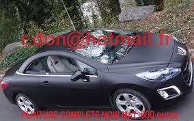 peugeot 307 cc peugeot 307cc noir mat pour voiture noir mat pour auto