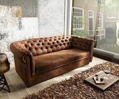 sofa braun uncategorized geräumiges 3 sitzer sofa chesterfield 200x92