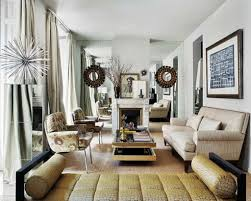 glamorous narrow living room ideas with leather chaise lounge and