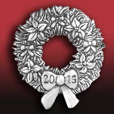 2015 and hammer annual wreath silver ornament silver superstore