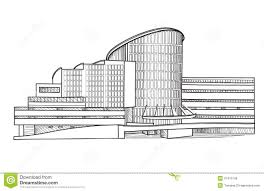 modern architectural buildings sketches and concept sketch of