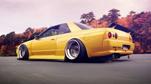 nissan yellow yellow nissan skyline car tuning