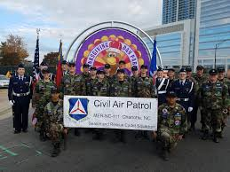 111th sar squadron marches in the thanksgiving day parade