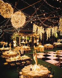 Pictures Of Backyard Wedding Receptions Outdoor Wedding Lighting Ideas From Real Celebrations Martha