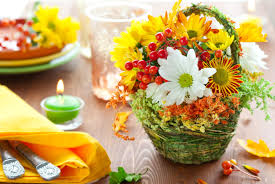fruit and flowers wallpaper chrysanthemums flowers fruit basket candle serving