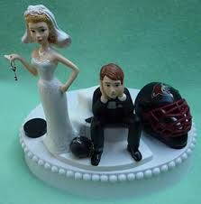 hockey cake toppers wedding cake toppers hockey funweddingthings