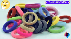hair rubber bands best out of waste from hair rubber bands crafts idea for home