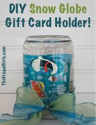 gift card snow globe diy snow globe gift card holder in a jar the frugal