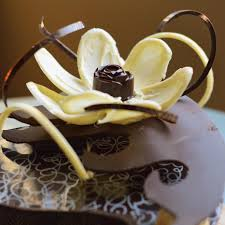 box cuisine patisserie legally baked patisserie edible chocolate flower on an edible