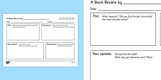 book review writing template book review writing template