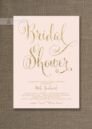 blush pink u0026 gold bridal shower invitation glitter pastel