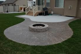 Concrete Patio Designs Layouts Creative Of Concrete Patio Ideas With Pit Pit Best Ideas