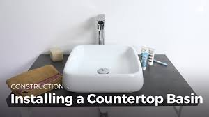 learn installing a countertop sink household diy projects sikana