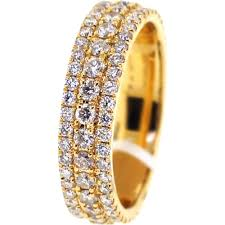 mens eternity rings mens diamond eternity band ring 14k yellow gold 2 64 ct 6 mm