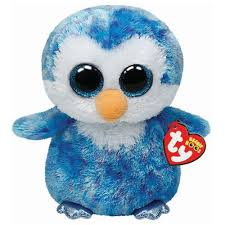 ty ice cube blue penguin beanie boos stuffed plush toy