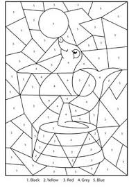 free printable penguin zoo colour numbers activity