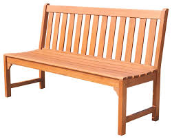 Garden Bench Hardwood Malibu Eco Friendly 5 U0027 Outdoor Hardwood Garden Armless Bench
