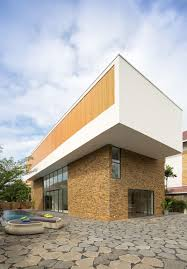 Two Storey House Exterior Design Modern Two Storey House Design With Natural Stone