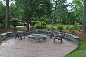 Custom Firepit Outdoor Fireplace And Pits Custom Decks Porches Patios