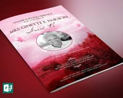 sle of funeral programs blue sky funeral program publisher template from godserv on etsy